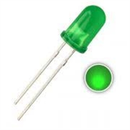 LED 3MM VERDE DIFUSO 400-500MCD - Código:10158
